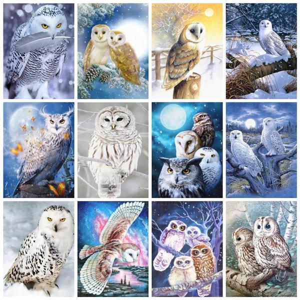 crossstitch, Owl, DIAMOND, art