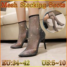 Knee High Boots, DIAMOND, Stockings, Jewelry