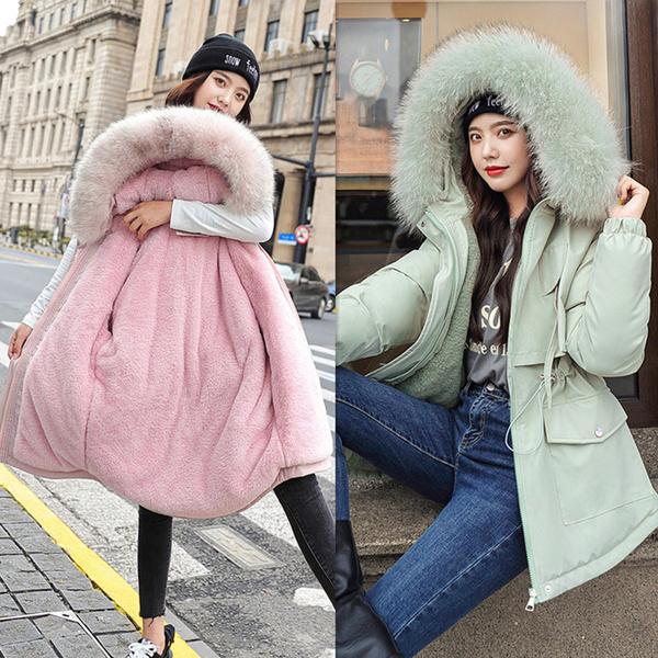 fur coat, Plus Size, Winter, pufferjacket
