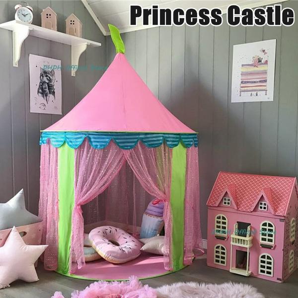 pink, kidsplayhouse, Princess, Sports & Outdoors