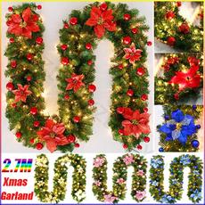 pinegarland, christmasrattan, Decor, garlandchristma