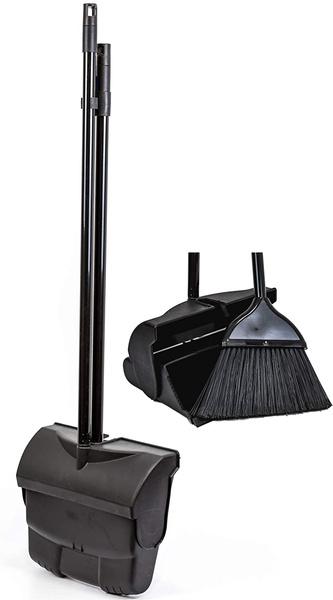 black, dustpanandbrushset, dustpanset, longhandleddustpanandbrushset