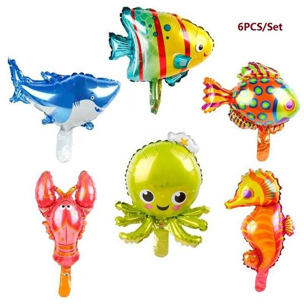 Decor, oceantheme, seahorse, Balloon