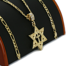 Antique, goldplated, Star, Jewelry