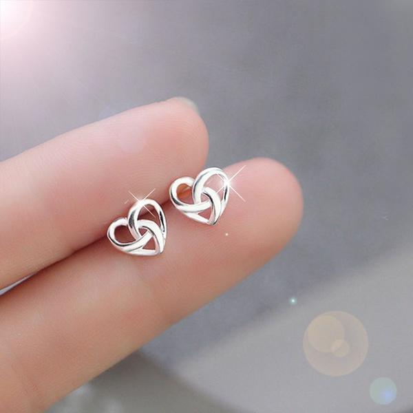 Sterling, Heart, Silver Earrings, Earing