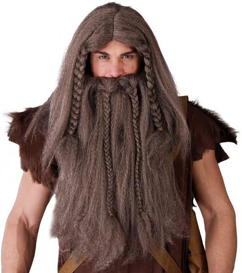 wig, viking, brown, One Size