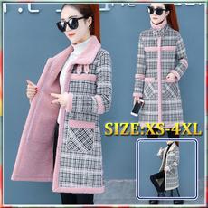 woolen coat, plaid, Winter, woolen