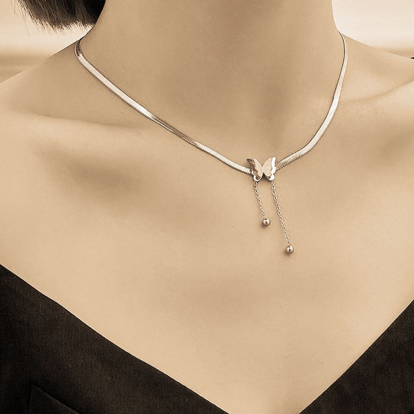 butterfly, Fashion, Chain, necklace for women
