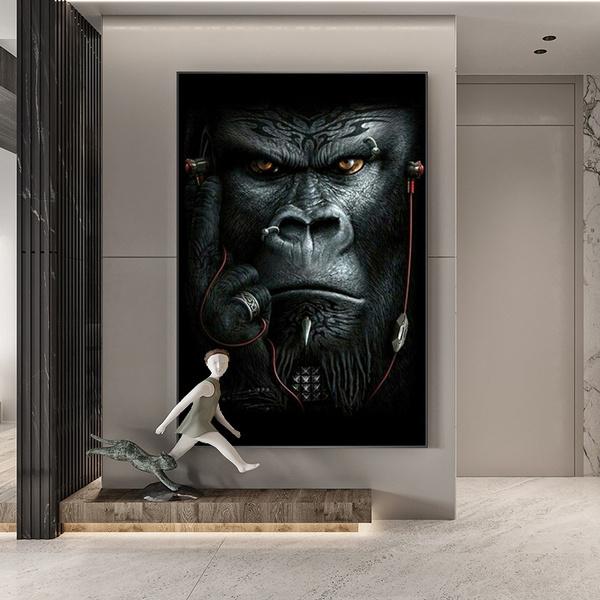 canvasart, Modern, Wall Art, peinturedécorativeorangoutan
