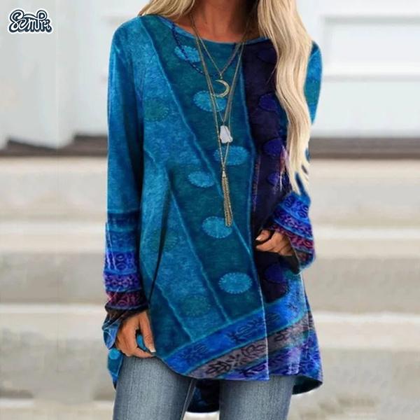 Women Blouse, Long Sleeve, women tee shirt, Loose