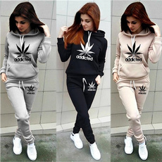 hooded, Long Sleeve, track suit, Women's Fashion
