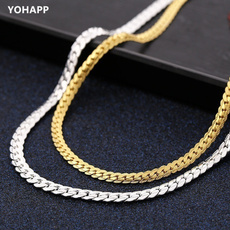 Sterling, Sideways, Chain Necklace, trending
