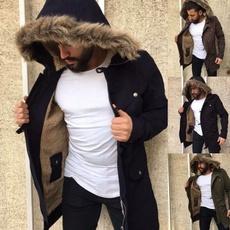 furcollarcoat, Plus Size, fur, hooded coat