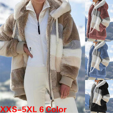 fur coat, hooded, fur, Winter