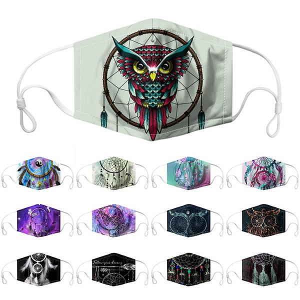 Owl, Cotton, animalprintedmask, dustmask
