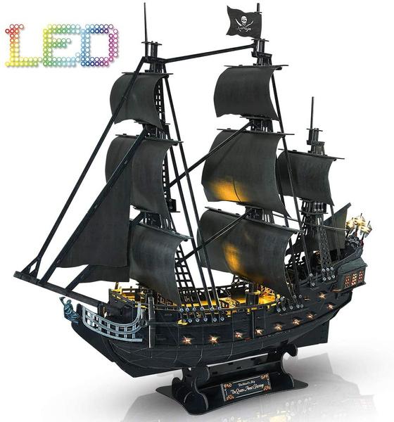 watercraft, led, 3dpuzzlejigsaw, shippuzzle