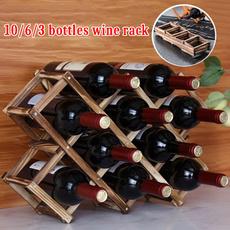 Home Decor, Wooden, Shelf, winestoragerack