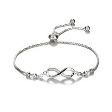 Charm Bracelet, Sterling, DIAMOND, Infinity
