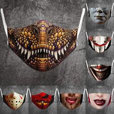 3dprintmask, Cotton, Fashion, graphicprintedmask