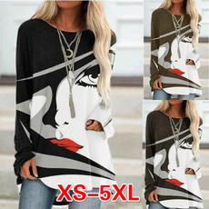 blouse, Plus Size, Necks, Long sleeved