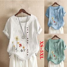 blouse, Summer, Plus Size, Necks