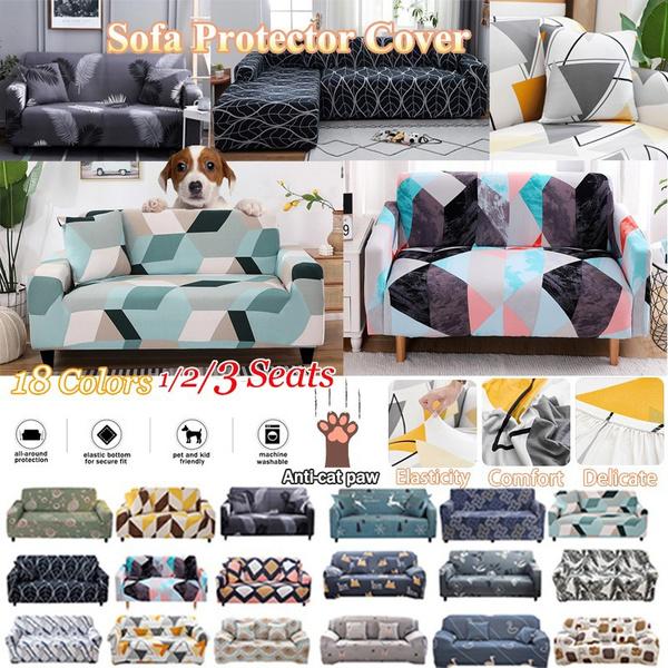 sofacover3seater, sofaprotector, sofabezug, geometricprinted