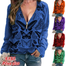 butterfly, Tops & Tees, Plus Size, Winter