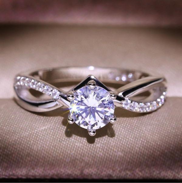 White Gold, DIAMOND, Infinity, wedding ring