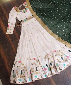 gowns, designerkurti, Embroidery, Dresses