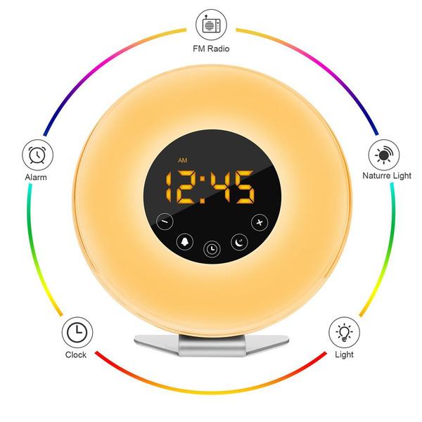 Sensors, led, deskalarmclock, Clock