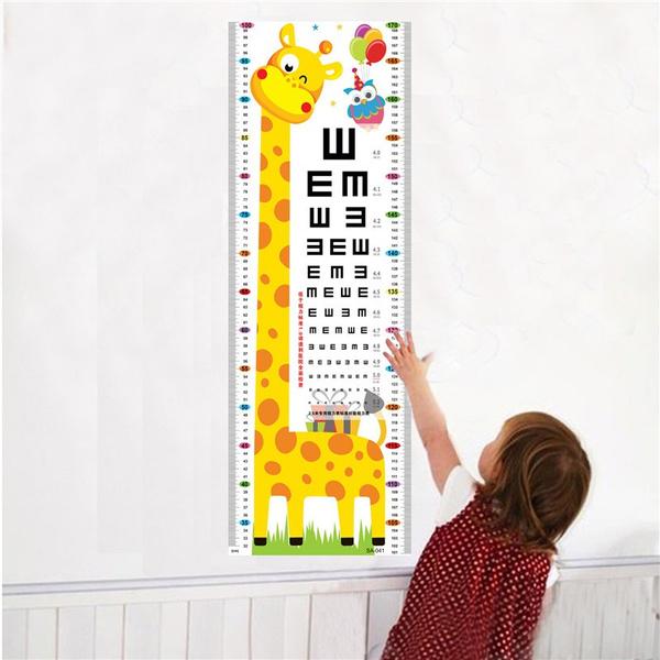 measuringwallsticker, eye, Home & Living, stickersforkid