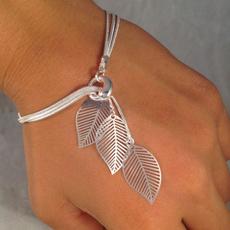 Charm Bracelet, Tassels, Moda, leaf