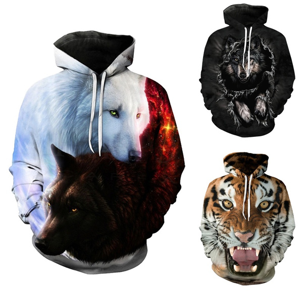 Couple Hoodies, 3D hoodies, Plus Size, Animal