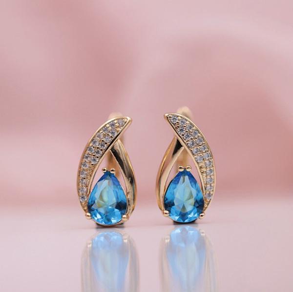 Blues, water, anniversaryearring, Fashion