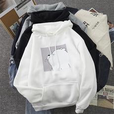 hooded, Long Sleeve, Vintage, Harajuku