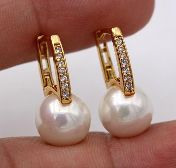 Sterling, DIAMOND, 925 sterling silver, Pearl Earrings