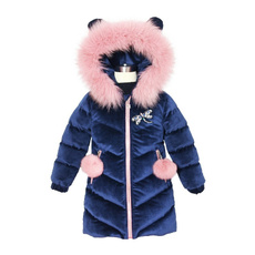 hooded, kids clothes, Winter, jackets for girls