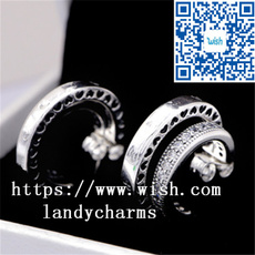 Sterling, Charm Jewelry, Silver Jewelry, pandoraearring