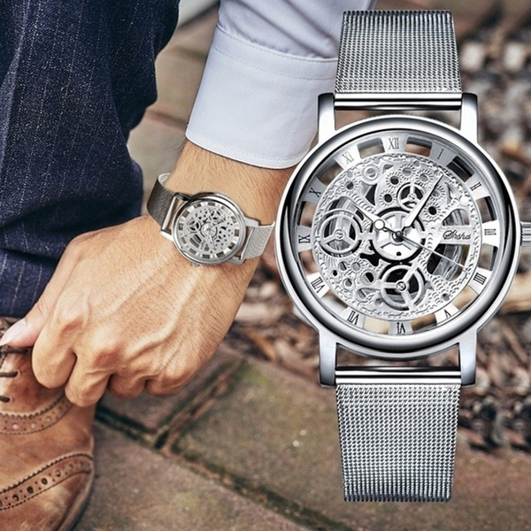 Steel, dial, quartz, Watch