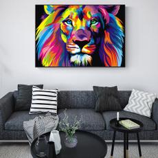 lioncanvaspaint, Decor, Wall Art, Home Decor