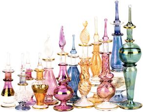 essentialoilsbottle, golden, glassdecorativebottlesforhome, miniatureperfumebottle