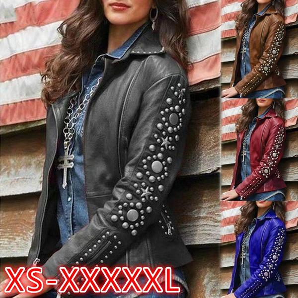 Casual Jackets, Plus Size, Coat, womensleatherjacket