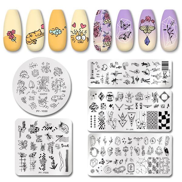 nail decoration, nailstamping, art, Beauty