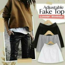 blouse, layering, splitskirt, Shirt