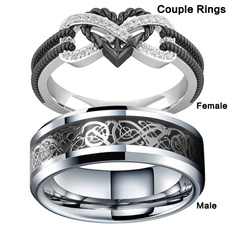 Sterling, Heart, Plus Size, wedding ring