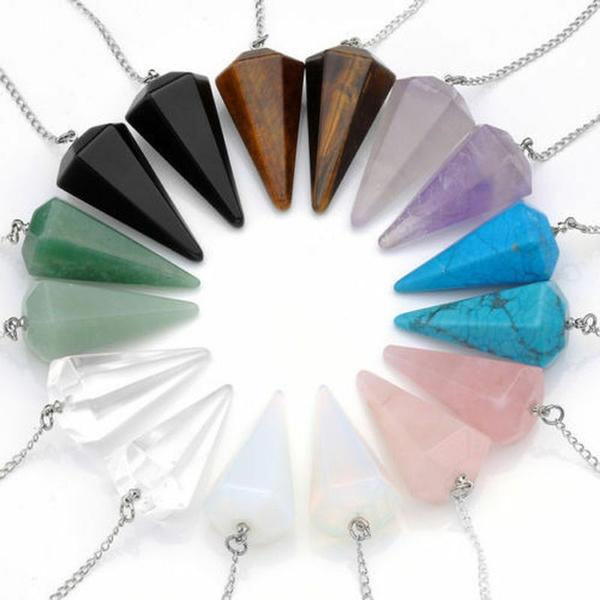 quartz, quartzcrystal, Jewelry, Chain
