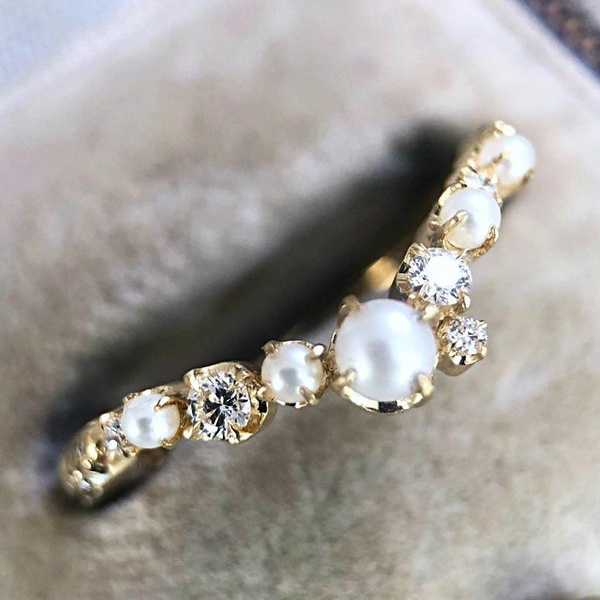 Vintage, Fashion, wedding ring, gold