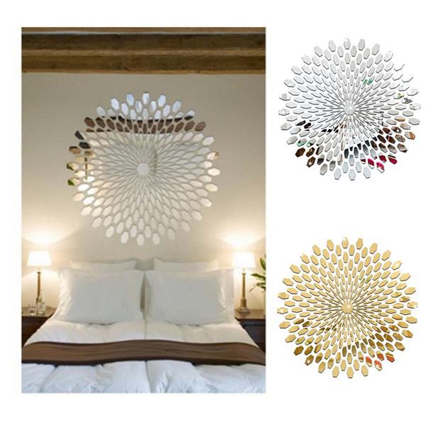acrylicsticker, Home Decor, Sunflowers, 3dwallsticker