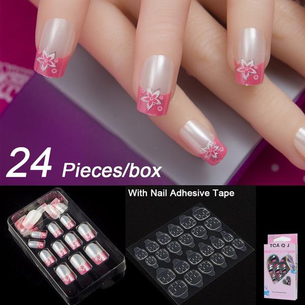 fakenailtip, nail stickers, art, glueonnail