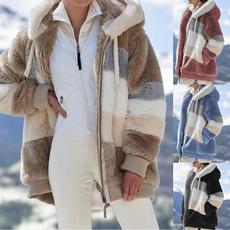hooded, fur, Winter, sweater coat